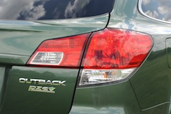 2010 Subaru Outback PZE Green rear taillights