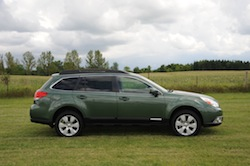 2010 Subaru Outback PZE Green side