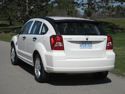 2011 Dodge Caliber White rear