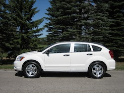 2011 Dodge Caliber White side