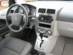 2011 Dodge Caliber White interior dashboard