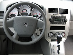 2011 Dodge Caliber White interior steering wheel