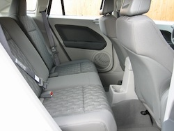 2011 Dodge Caliber White rear seats