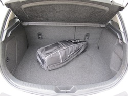 2012 Mazda 3 GS White trunk storage