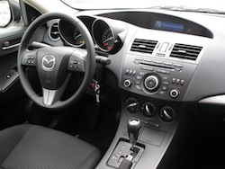 2012 Mazda 3 GS White interior dashboard