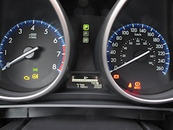 2012 Mazda 3 GS White gauges