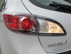 2012 Mazda 3 GS White taillights