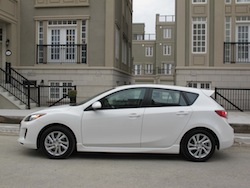 2012 Mazda 3 GS White side view