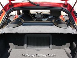 2012 Mini Cooper Coupe S Red rear trunk storage folded