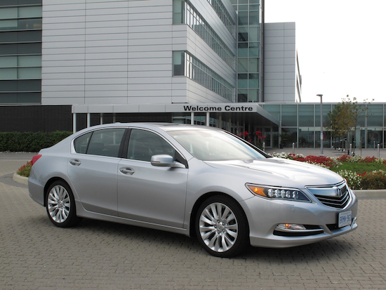 2013 Acura RLX Silver front side view