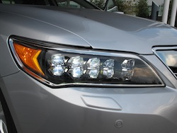 2013 Acura RLX Silver front headlights