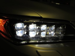 2013 Acura RLX Silver front headlights dark