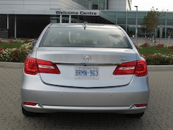 2013 Acura RLX Silver full rear view