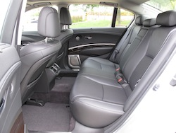 2013 Acura RLX Silver rear seat legroom interior