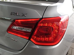 2013 Acura RLX Silver rear taillights off