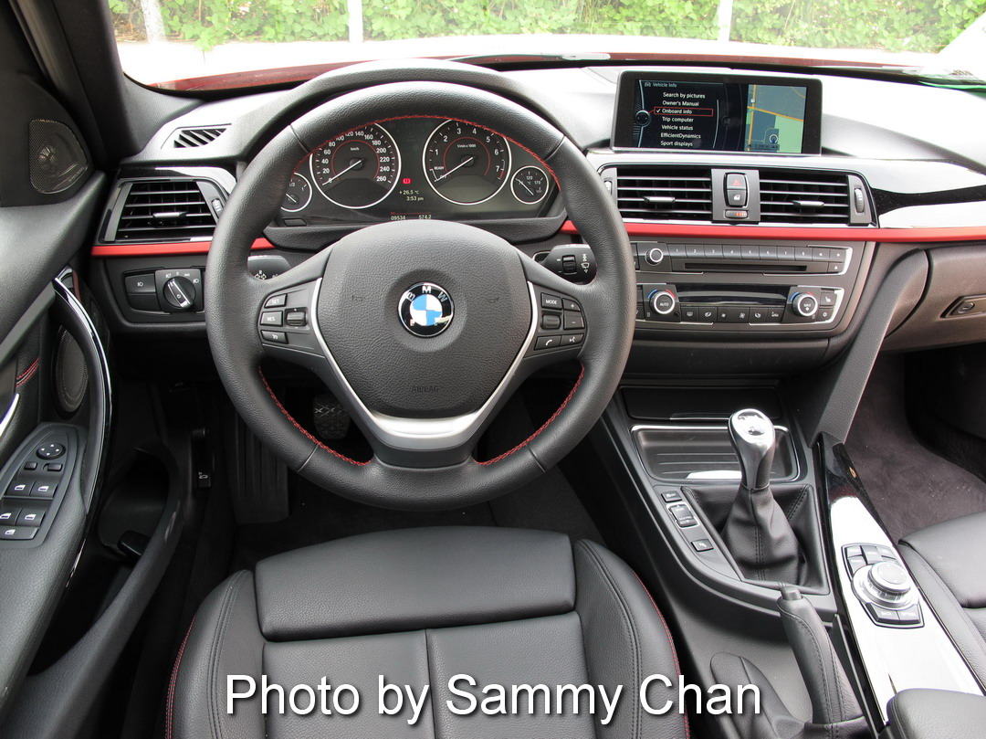 2013 BMW 328i Red interior dashboard manual transmission