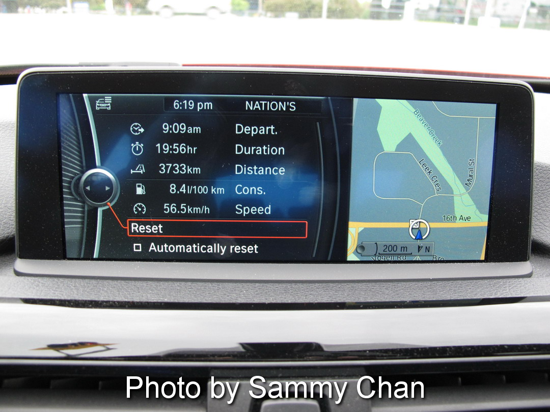 2013 BMW 328i Red display