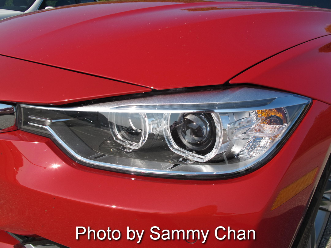 2013 BMW 328i Red headlights