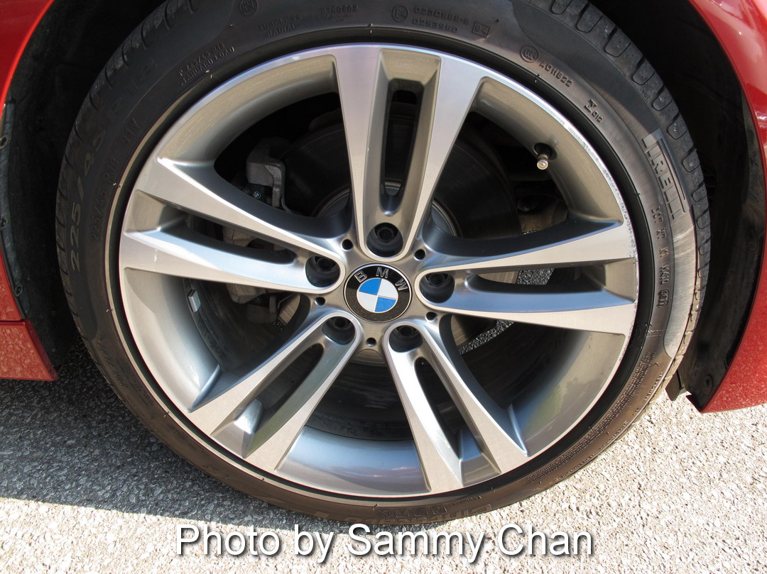 2013 BMW 328i Red wheels rims