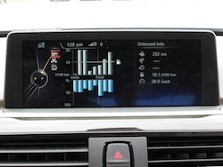 2013 BMW Activehybrid 3 Blue eco driving display