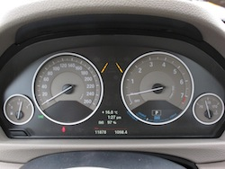 2013 BMW Activehybrid 3 Blue gauges