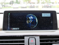 2013 BMW Activehybrid 3 Blue navigation display