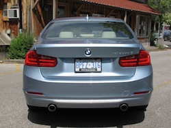 2013 BMW Activehybrid 3 Blue rear view