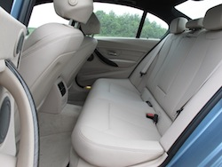 2013 BMW Activehybrid 3 Blue rear seats