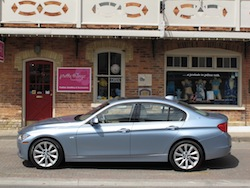 2013 BMW Activehybrid 3 Blue side view