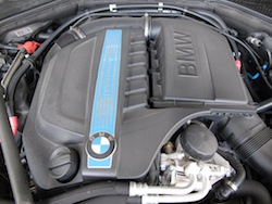2013 BMW Activehybrid 5 Black engine