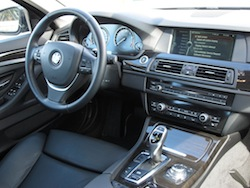 2013 BMW Activehybrid 5 Black interior dashboard