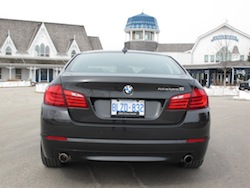 2013 BMW Activehybrid 5 Black rear view