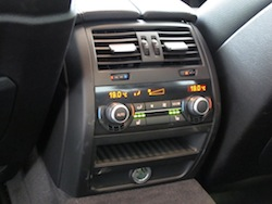 2013 BMW Activehybrid 5 Black rear controls