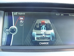 2013 BMW Activehybrid 5 Black eco displays