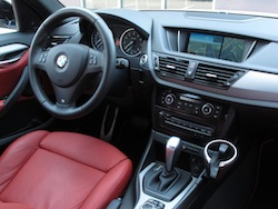 2013 BMW X1 xDrive35i M-Sport Alpine White coral red interior dashboard