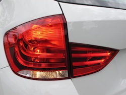2013 BMW X1 xDrive35i M-Sport Alpine White taillights on