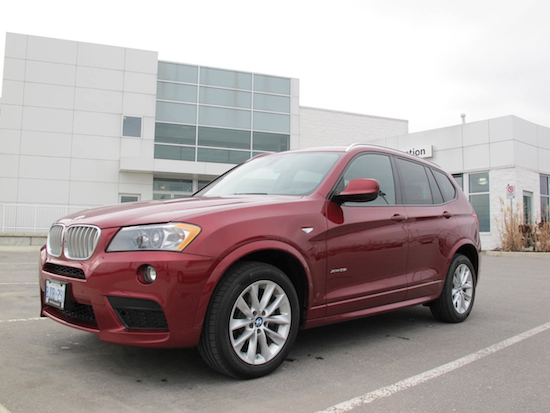2013 BMW X3 xDrive35i Red front side
