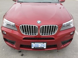 2013 BMW X3 xDrive35i Red full front top