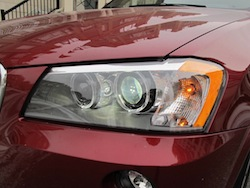 2013 BMW X3 xDrive35i Red front headlights