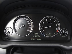 2013 BMW X3 xDrive35i Red interior gauges
