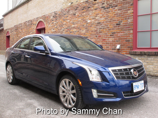2013 Cadillac ATS 3.6L Premium Blue front side view
