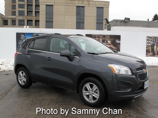 2013 Chevrolet Trax Gray front side view