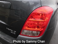 2013 Chevrolet Trax Gray taillights