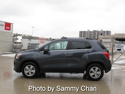 2013 Chevrolet Trax Gray side view