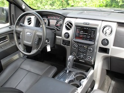 2013 Ford F150 FX4 Supercrew Ecoboost interior dashboard view