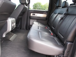 2013 Ford F150 FX4 Supercrew Ecoboost rear seats interior legroom