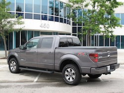 2013 Ford F150 FX4 Supercrew Ecoboost rear side view
