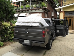 2013 Ford F150 FX4 Supercrew Ecoboost trunk bed storage of mattresses