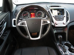 2013 GMC Terrain Denali interior dashboard view