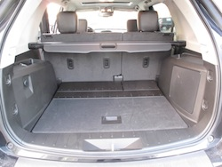 2013 GMC Terrain Denali rear trunk storage space